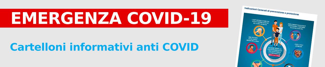 Cartelloni informativi anti COVID-19